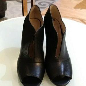 Nine West Peep Toe Black Heels